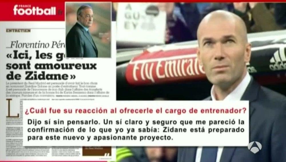 Un extracto de la entrevista de Florentino Pérez a 'France Football'