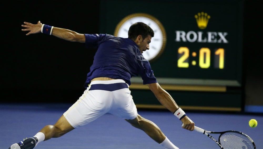 Novak Djokovic, durante el partido con Nishikori