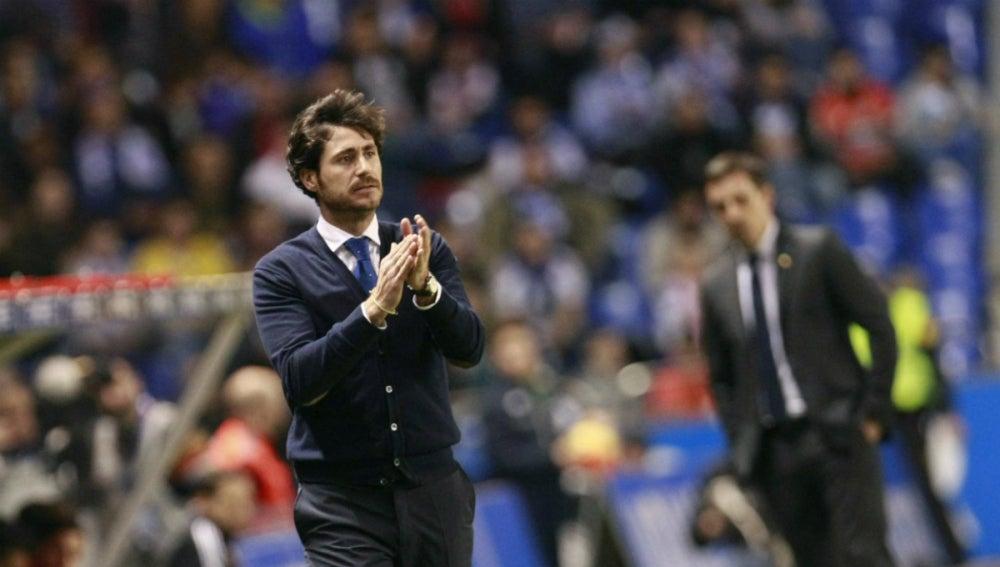 Víctor Sánchez del Amo, durante un partido con el Deportivo de la Coruña