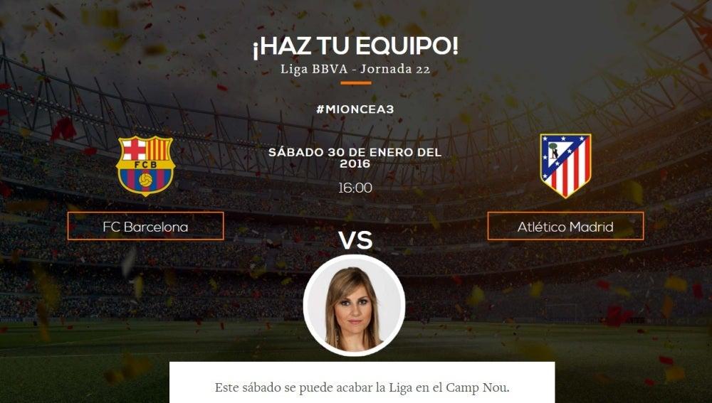 Elige tu once ideal del Barcelona - Atlético de Madrid de Liga