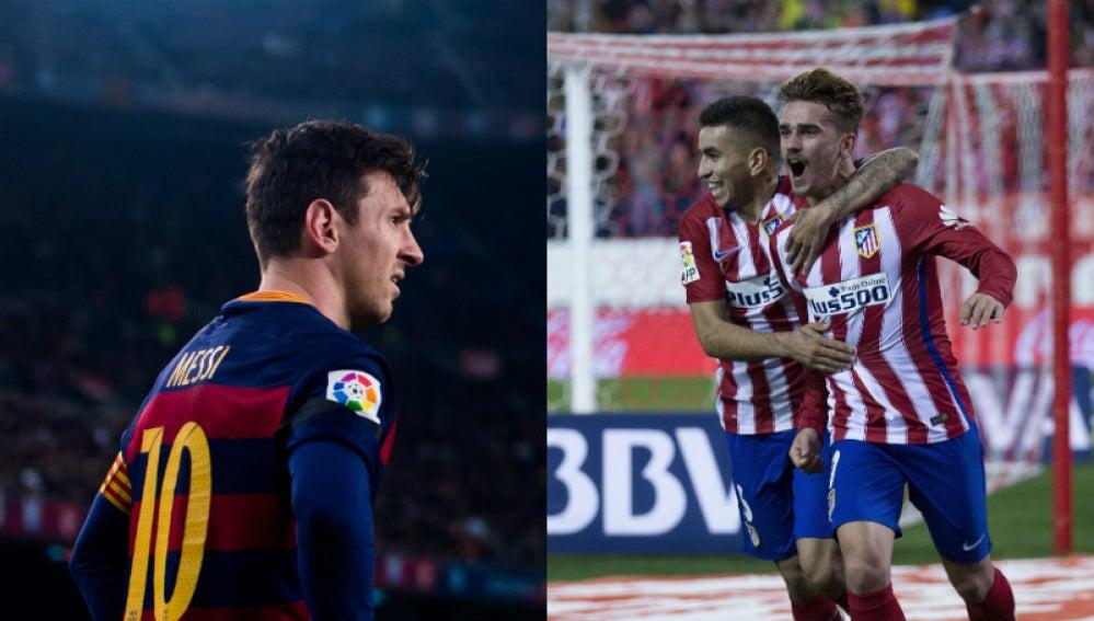 Leo Messi y Griezmann, enfrentados en el Camp Nou