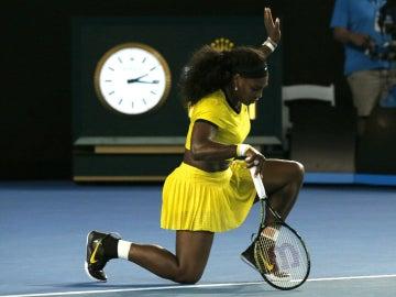 Serena Williams, tras ganar a Radwanska en Australia