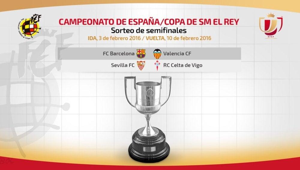 Barcelona-Valencia y Sevilla-Celta, duelos de semifinales de Copa