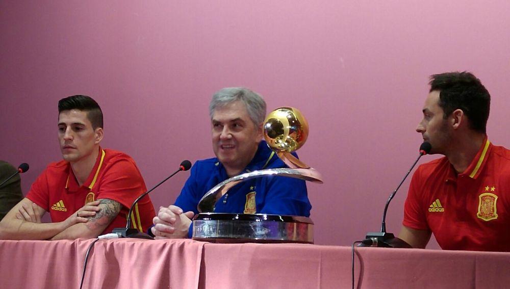 José Venancio, durante la rueda de prensa