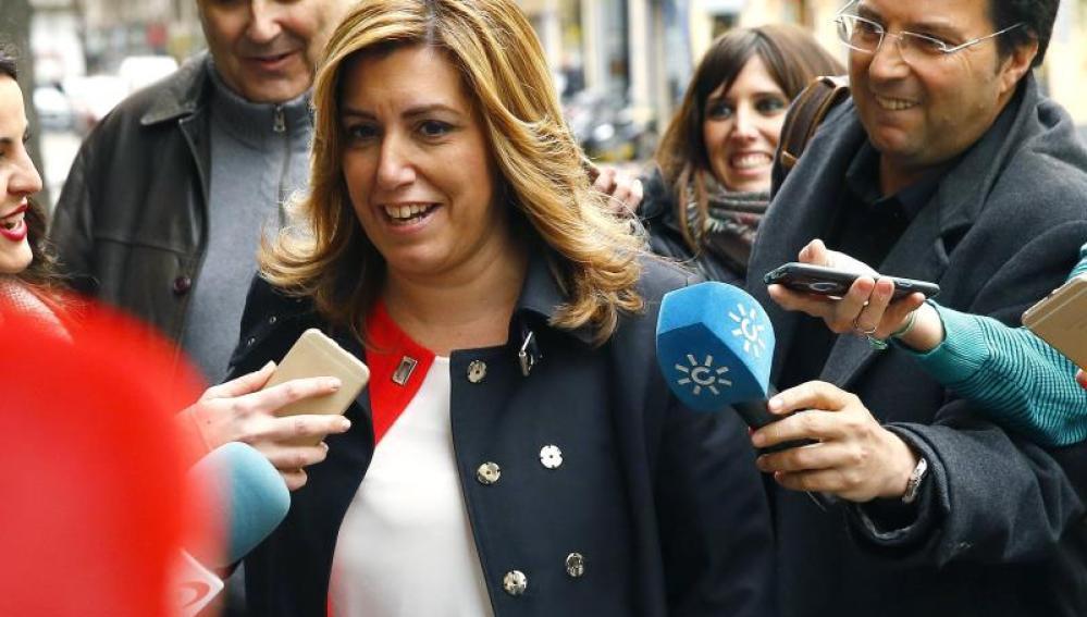 Susana Díaz a su llegada al Comité Federal