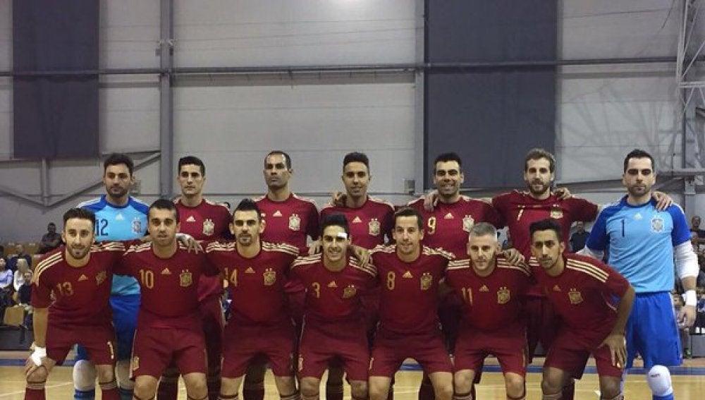La selección española de fútbol sala, en 2015