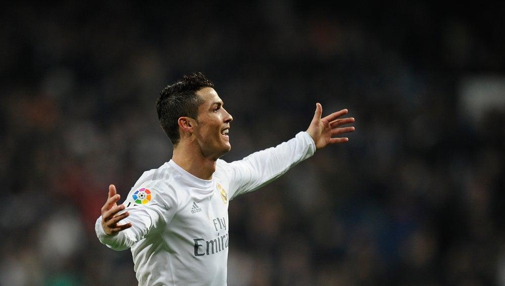Cristiano Ronaldo celebra un gol frente al Espanyol