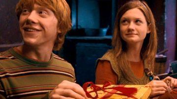Ron Weasley y Ginny Weasley