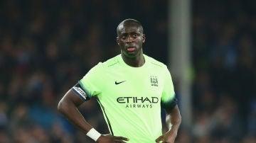 Yaya Touré, en un partido del Manchester City