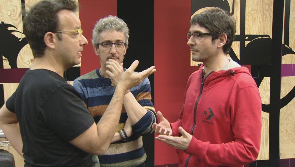 Àngel Làcer, David Fernández y Juanra Bonet