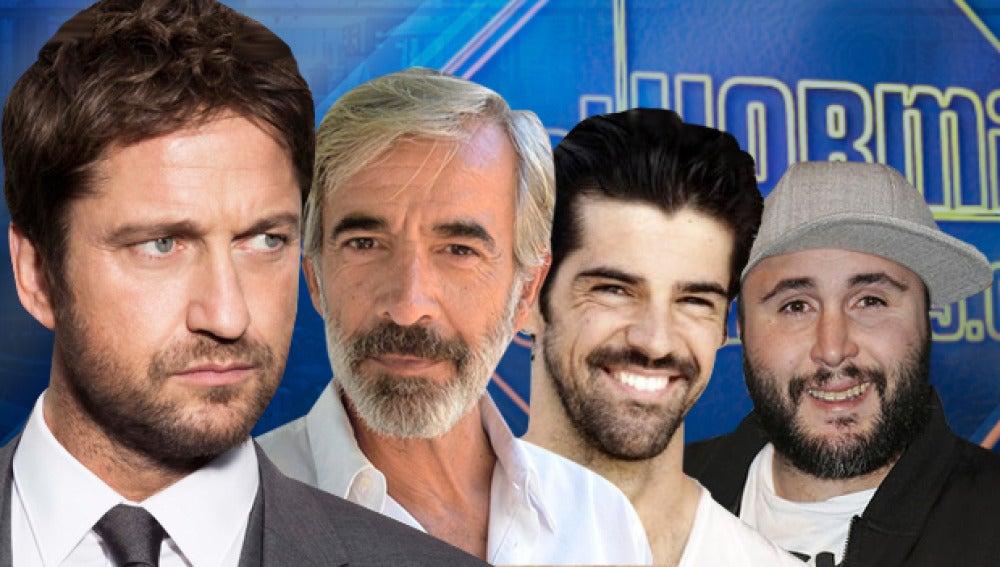 Kiko Rivera, Imanol Arias, Miguel Ángel Muñoz y Gerard Butler