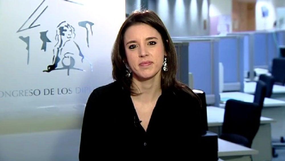 Irene Montero en Espejo Público