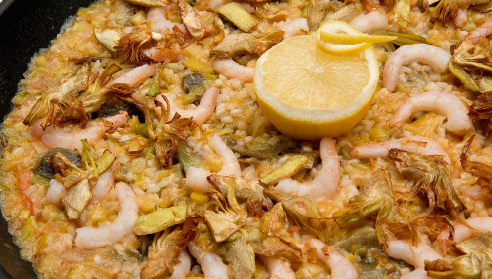 Antena 3 tv arroz con alcachofas y gambas - Arroz con alcachofas y jamon ...