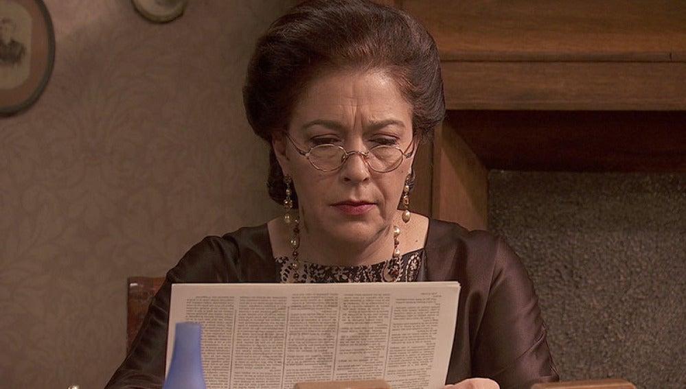 Francisca está preocuopada por el asesinato de un empresario de Munia