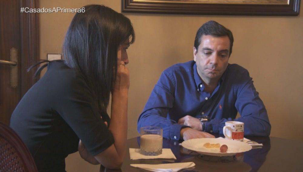 Mónica y Pedro discuten