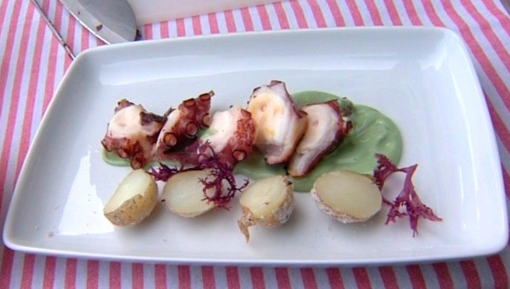 Prepara pulpo a las brasas con... ¡mayonesa de plancton marino!