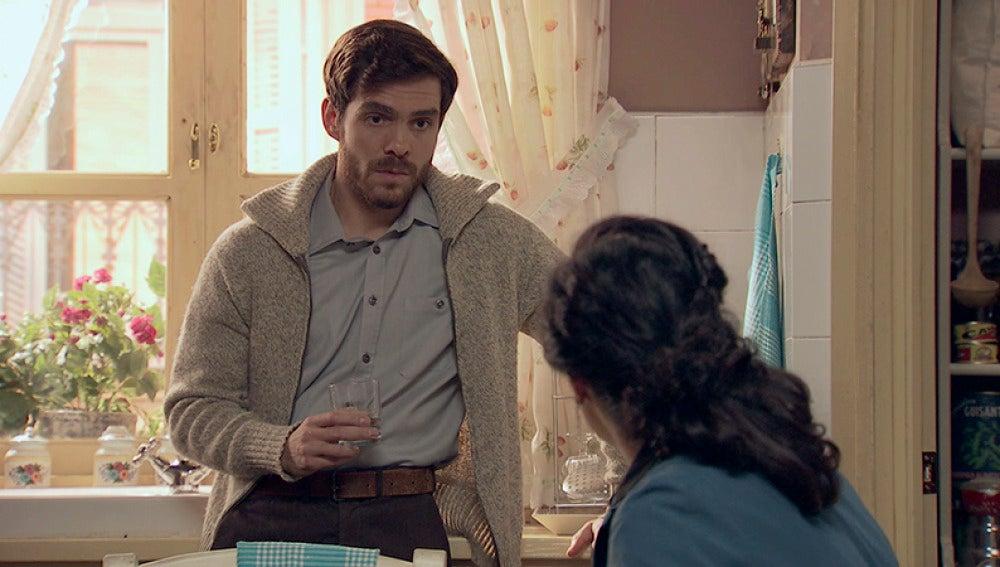 Pepa confiesa a Toni que se ha enamorado de él