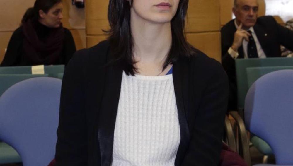 Rita Maestre, durante el juicio