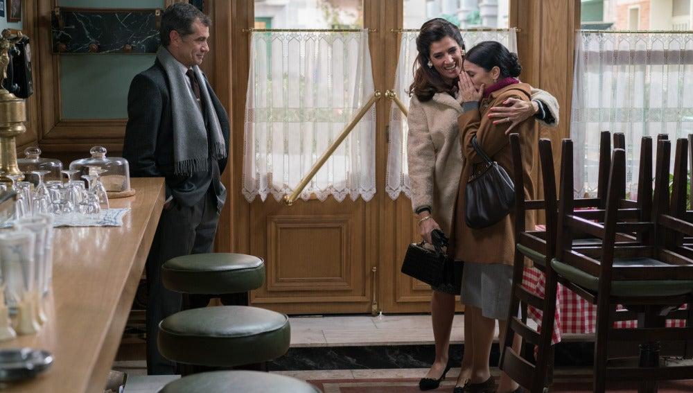Eugenio, Adela y Manolita