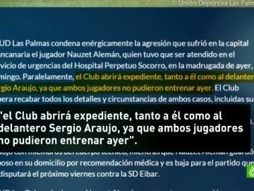 Comunicado de Las Palmas sobre la pelea nocturna