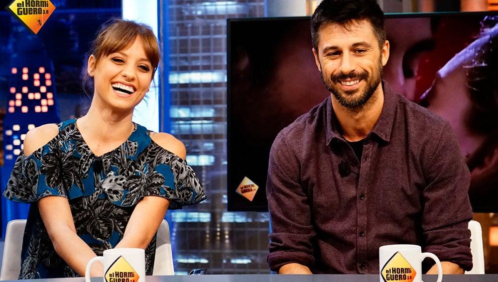 Michelle Jenner y Hugo Silva en 'El Hormiguero 3.0'