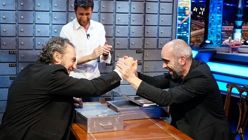 Luis Tosar y José Coronado en 'El Hormiguero 3.0'