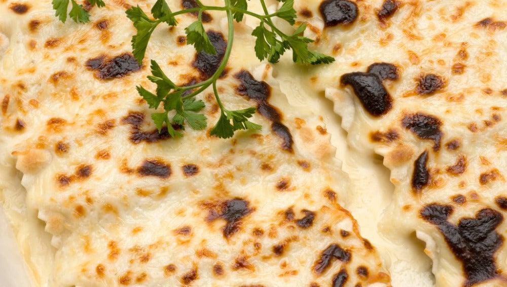 Canelones de calabacín y queso de cabra