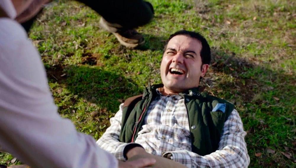 Rober sale herido de un día de caza con Iñaki y Antonio