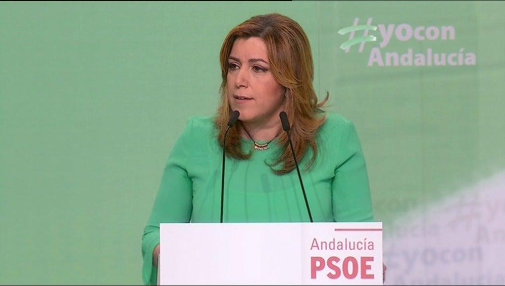 Susana Díaz asegura que España necesita que Sánchez ponga rumbo al país