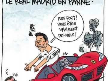 Caricatura de Cristiano realizada por el diario L'Équipe