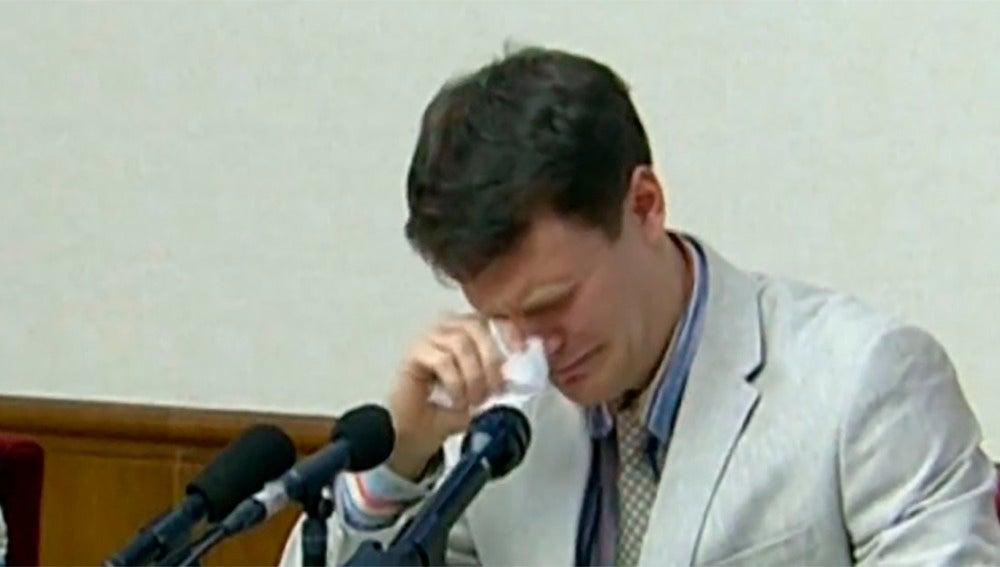 El estudiante detenido en Corea del Norte