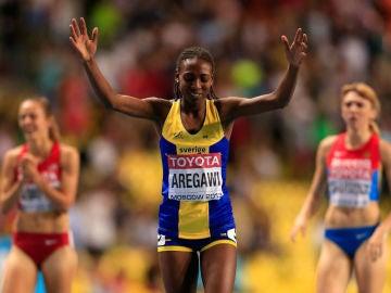 La atleta etíope nacionalizada sueca, Abeba Aregawi