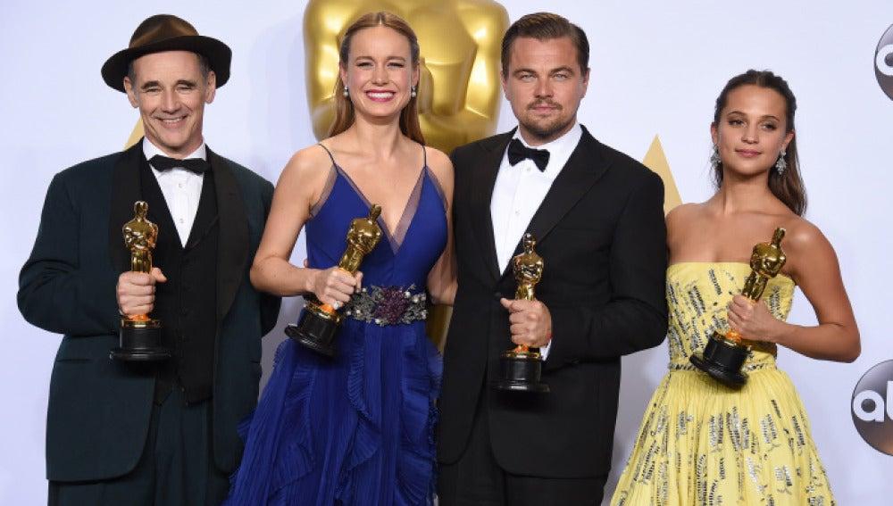 El cuarteto de actores ganadores