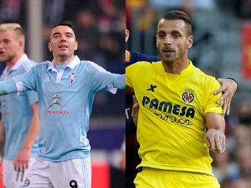 Iago Aspas y Roberto Soldado, comparador de jugadores
