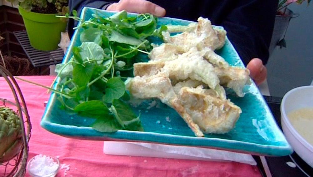 Alcachofa en tempura