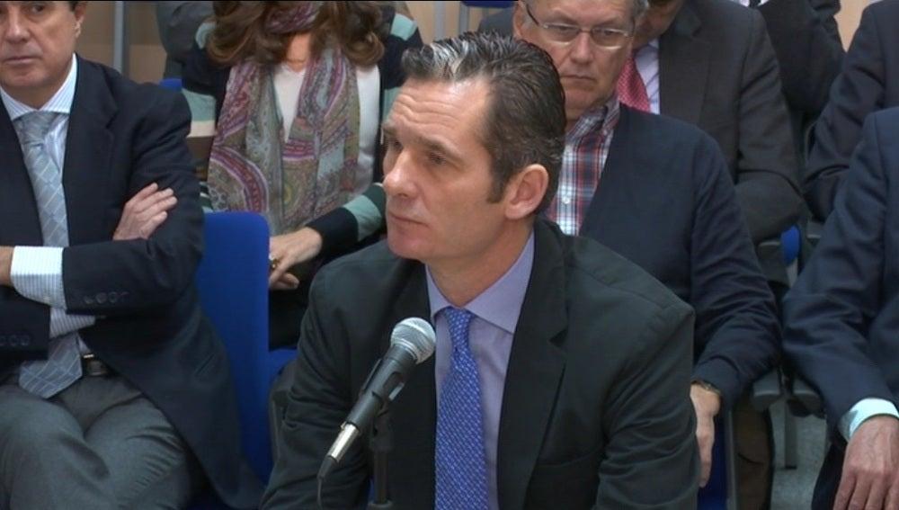 Iñaki Urdangarin, durante su tercer día de declaración por el caso Nóos