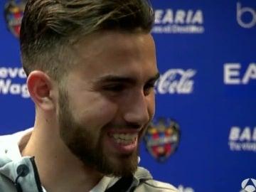 Borja Mayoral, después del partido contra el Levante