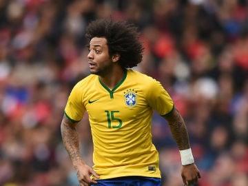 Marcelo, en un partido con Brasil