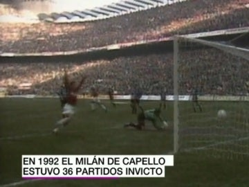 Un gol del Milan de Capello
