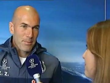 Zidane, con Susana Guasch