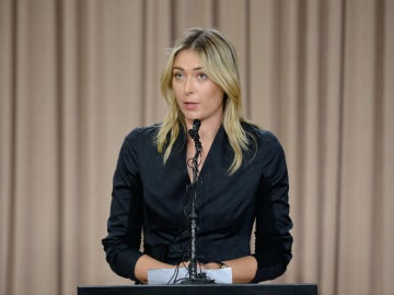 María Sharapova, durante la rueda de prensa