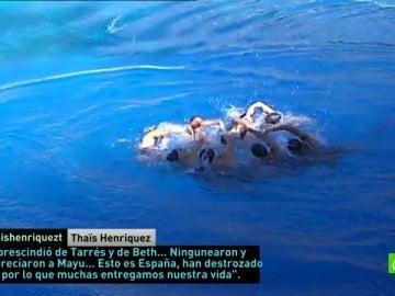 """Frame 4.046097 de: Thais Henriquez: """"Esto es España, han destrozado todo por lo que entregamos nuestra vida"""""""