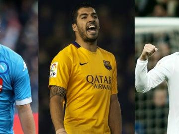 Higuaín, Suárez y Cristiano Ronaldo luchan por la Bota de Oro