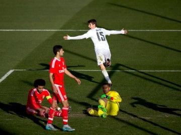 Celebración del gol en el Real Madrid - Benfica de la Youth League