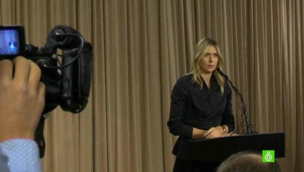 Maria Sharapova comparece ante los medios de comunicación
