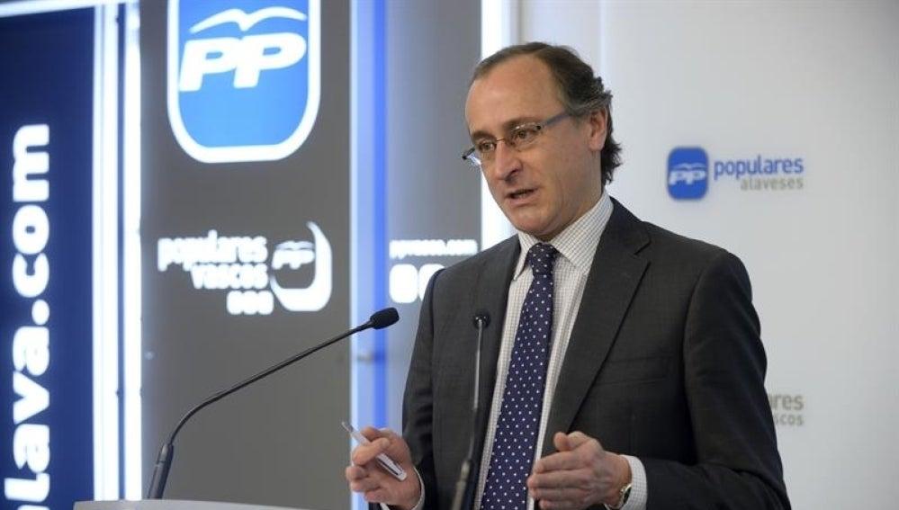 El ministro de Sanidad en funciones, Alfonso Alonso