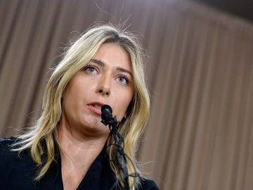 María Sharapova, durante la conferencia de prensa