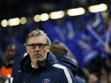 Laurent Blanc, durante el partido contra el Chelsea