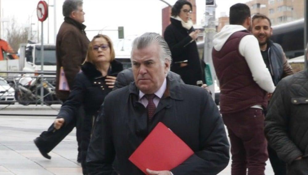 Luis Bárcenas, a su salida de los juzgados