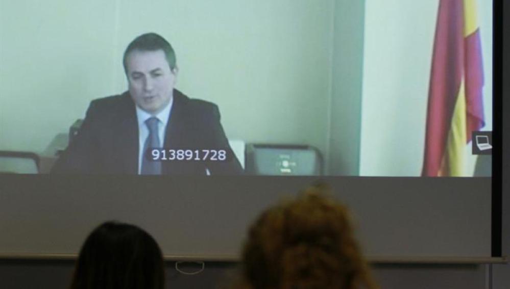 Antonio Ballabriga, director de Responsabilidad y Reputación Corporativa de BBVA, durante el juicio por Nóos